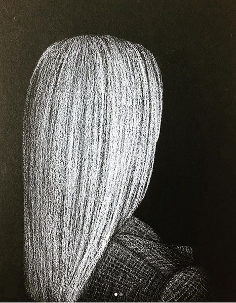 """This series is called """"Women in Obscurity"""" because a lot of women are not given the attention and respect they deserve. The drawings show how undererstimated and almost invisible a lot of women nowadays still are, their help and services taken for granted, their love and talent not appreciated the way it absolutely should be."""